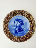 Royal Vienna Austria Cobalt Blue  Porcelain Cabinet Plate circa 1900 MINT