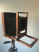 Antique wooden 8 X 10 Gundlach Korona View Camera Body and bellows