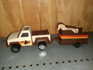 Mini Tonka / Play People Pickup Truck & Horse Trailer
