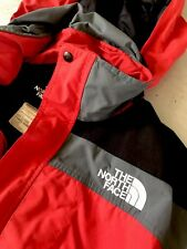 VTG Mens The North Face Large Jacket Coat Hoodie Puffer 1990 Red Black Gore-Tex