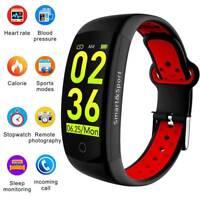 Sports Blood Pressure Heart Rate Monitor Fitness Smart Watch Wrist Band Bracelet
