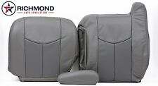 2003 GMC Sierra 1500 Denali DRIVER Side COMPLETE Leather Seat Covers 2-Tone Gray