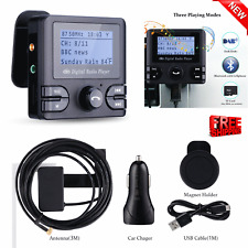 In-Car DAB/DAB+ Digital Radio Adapter Bluetooth FM Handsfree Calling AUX 2 USB