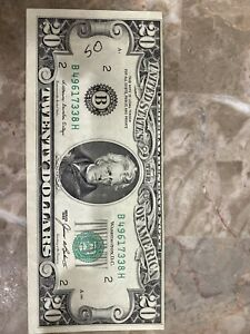 $20 FEDERAL RESERVE NOTE MISALIGNED PRINTING (Error Note) Series 1985