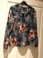top/blouse size 8. laura ashley.floral.vintage.tea.party.