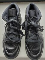 Nike Air Jordan 1 Retro Mid Black On Black  (640734-090) Youth Size 2Y