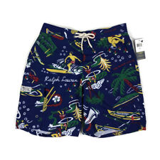 Polo Ralph Lauren Mens Swim Shorts Trunk Aloha State Luau Surfer Blue Variety
