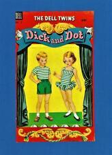 Original Vintage 1956 Dick & Dot Paper Dolls~Uncut~Rare~Excellen t Condition
