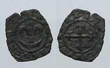 pcc900_24)  Carlo I d' Angiò  Denaro. Giglio su crescente / Croce. Sp.46-47