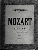Mozart ~ Sonaten ~ Piano und Violine ( Piano ) gebunden