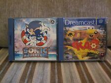 Sonic Adventure und Kao The Kangaroo Sega Dreamcast Spiele