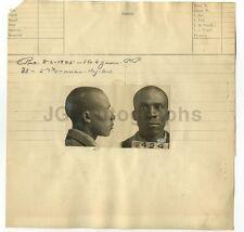 Police Booking Sheet - Will Lee aka Roscoe Lee - 1925