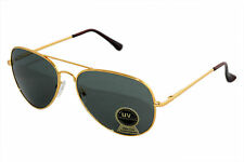 Sunglass in Aviator Style  In High Quality and Dark Gun Shade with Golden Rim