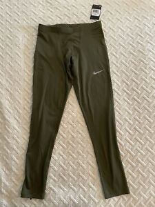 Nike Tights Men's Olive Green Dri Fit Training Compression Large 929352-395