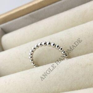 Original 100% S925 Sterling Silver, Eternal Clouds Ring, Beaded Rings, Beaded 🕊