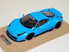 1/18 Ferrari 458 Liberty Walk LB Performance Baby Blue Black Wheels N BBR or MR