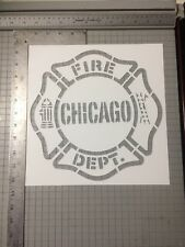 Chicago Fire Department Fire Fighter Streetart Stencil Large