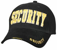 9490 Rothco Security Deluxe Low Profile Cap - Black & Gold