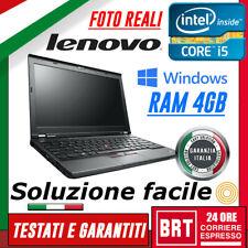 "PC NOTEBOOK LENOVO THINKPAD X230 12.5"" CPU I5-3320M 4GB RAM + KEY WIN 10 PRO!!!"