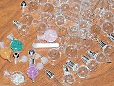 10 Lot Mix Glass Bottle Pendant Vial tiny charm pendant necklace Huge wholesale