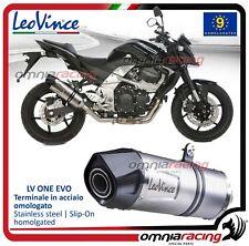 Leovince LV ONE Evo Pot D'Echappement acier Kawasaki Z750 2007>2014 /R 2011>2014