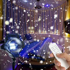 Outdoor Snow Falling Snowflakes LED Moving Laser Projector Light Christmas Lamp