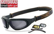 Helly Eagle Motorradbrille inkl. je ein paar Gläser in smoke, xenolit & klar