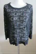 Isabel Marant black lace top size 2, AUS 8-10, pre loved