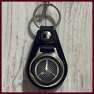 Single Sided Leather Keychain Mercedes Benz Luxury Vehicles