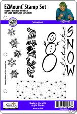 SNOWMAN STAMP SET - 5 EZ Mount Stamps - Dee Gruenig
