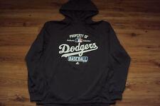 LOS ANGELES DODGERS MLB MAJESTIC PROPERTY OF 1/4 ZIP AUTHENTIC HOODED SWEATSHIRT