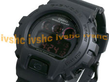 CASIO G-Shock DW6900MS-1 DW-6900MS-1 ALL BLACK RED EYE Free Ship #