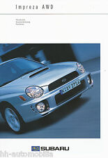 Subaru Impreza Technische Daten Prospekt 11 00 brochure 2000 Auto PKWs Broschüre
