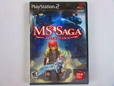 MS Saga: A New Dawn (Sony PlayStation 2, 2006) Free Shipping
