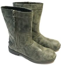NEW RARE WOMEN'S ROCKET DOG BOOTS - Grey Quilted Side Zipper Size 9 US 39.5 EUR