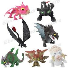 7pcs Dreamworks How to Train Your Dragon Night Fury 4.5cm-8cm Figure Set Loose