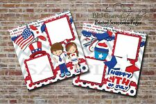 July 4th Independence Day 2 PRINTED Premade Scrapbook Pages BLJgraves 13Br