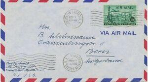USA 1954 15 C Air Mail Statue Of Liberty, New York Skyscraper; Airplane Lockheed
