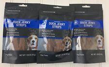 New Oven Baked Duck Jerky Strips Dog Snacks Treats Lot Of 3- 1.58oz 4.72oz Total