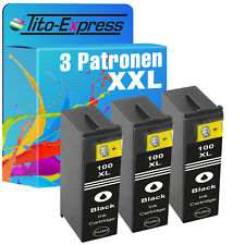 Set 3x encre xl Black pour Lexmark 100 pinnacle pro 901
