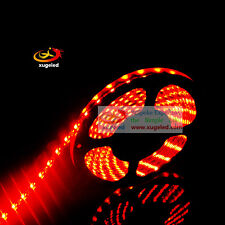 5M 16.4ft 3528 SMD Orange 600nm 300LED Waterproof IP65 Flexible Strip Black FPCB
