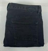 Quiksilver Men's Black Denim Jeans Size 38 Slim Fit Zip Fly Aussie Surfwear Bran