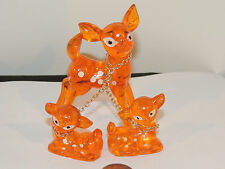 Bambi Acrylic Deer Set of 3 in Original Box over 3 inches  (10012)