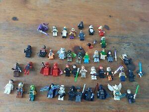 lot de figurines  lego star wars, harry potter ou autres ..