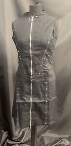 Rare Vintage SDL Cotton Dress With Zips  Size 10 Deadstock