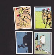 Herge Tintin Panini 1989 autocollants 159 160 161 162