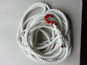 GIN WHEEL ROPE WITH SAFETY HOOK