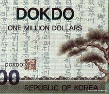 COREE DU SUD  DOKDO   billet de 1 MILLION DOLLARS 2013 SPECIMEN