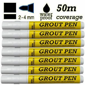 White Grout Pen Reviver Restorer Stick Kitchen Shower Bathroom Tile Anti Mould