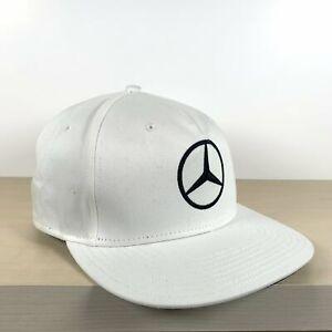 Mercedes F1 Flat Brim Cap - White
